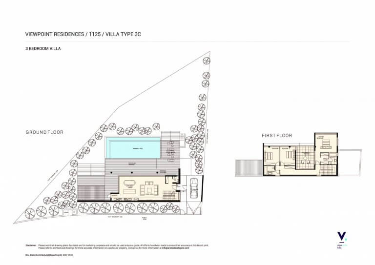 Villas for sale in View Point Hills, Paphos