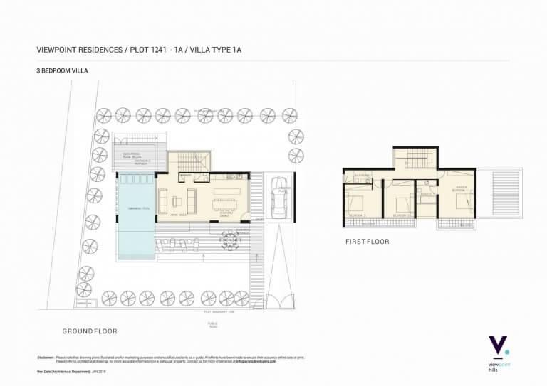 ViewPoint Hills Plot 1241 - 1A Villa 3 Bedroom Villas For Sale in Peyia