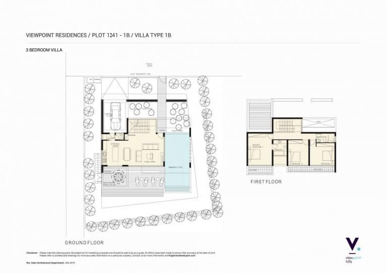 ViewPoint Hills Plot 1241 - 1B Villa 3 Bedroom Villas For Sale in Peyia