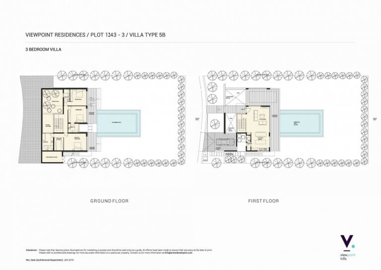ViewPoint Hills Plot 1243 - 3 Bedroom Villas For Sale in Peyia