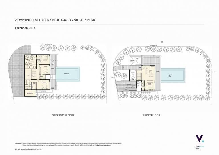 ViewPoint Hills Plot 1244 - 3 Bedroom Villas For Sale in Peyia