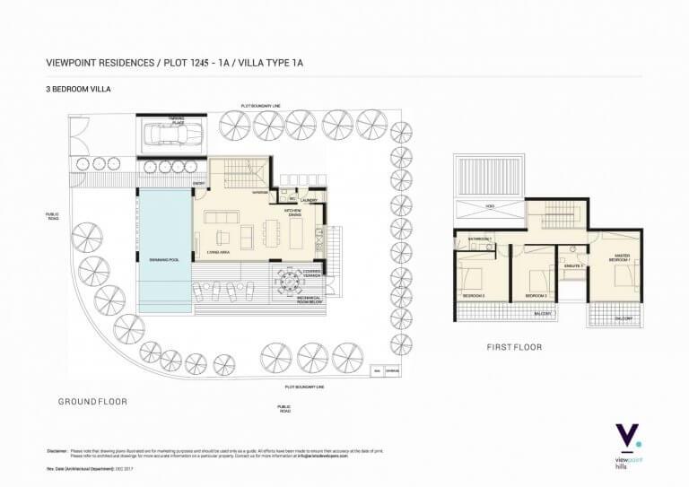 ViewPoint Hills Plot 1245 - 1A Villa 3 Bedroom Villas For Sale in Peyia