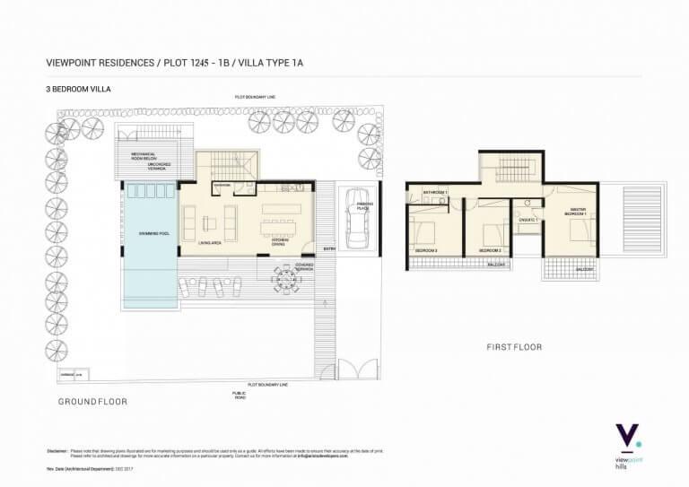 ViewPoint Hills Plot 1245 - 1B Villa 3 Bedroom Villas For Sale in Peyia