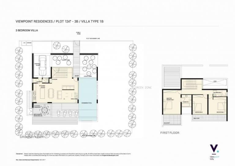 ViewPoint Hills Plot 1247 - 3B Villa - 3 Bedroom Villas For Sale in Peyia