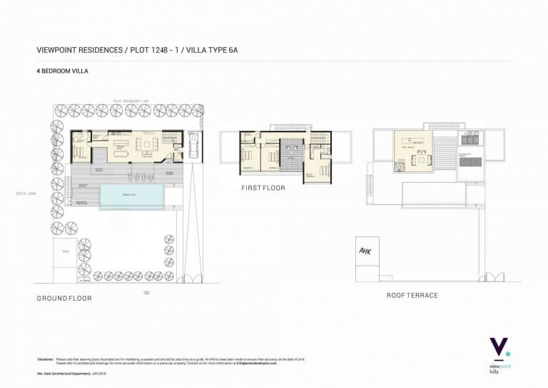 ViewPoint Hills Plot 1248 - 4 Bedroom Villas For Sale in Peyia