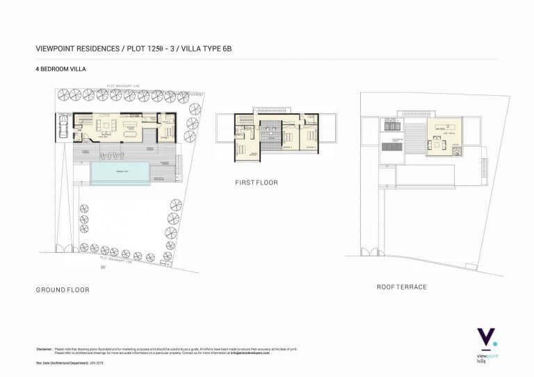 ViewPoint Hills Plot 1250 - 4 Bedroom Villas For Sale in Peyia