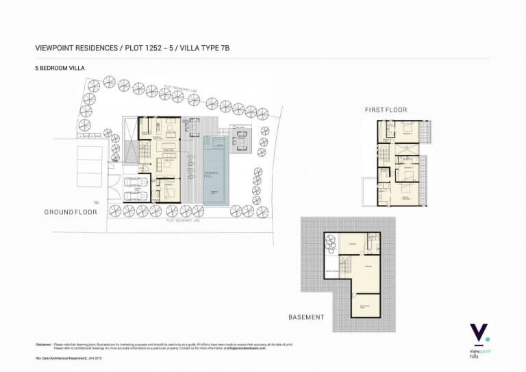 ViewPoint Hills Plot 1252 - Villa 5 - 5 Bedroom Villas For Sale in Peyia