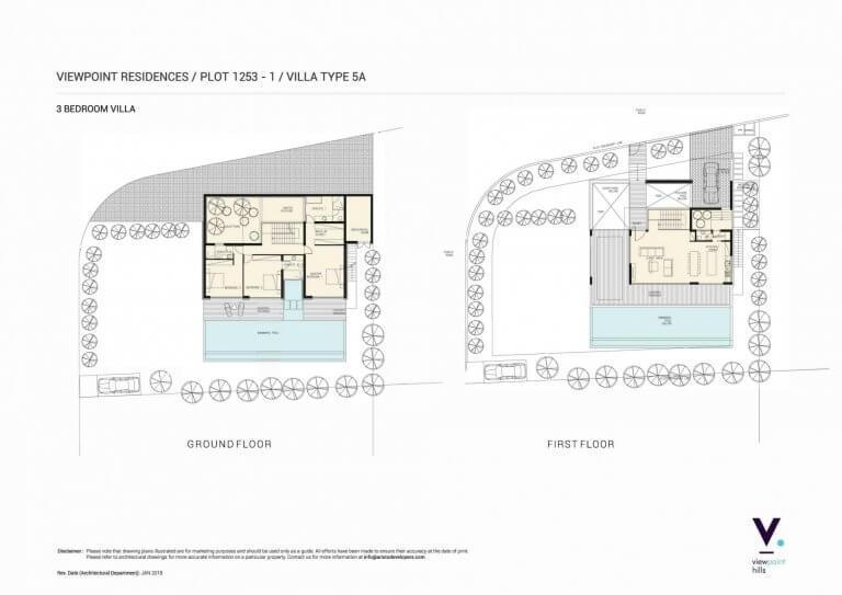 ViewPoint Hills Plot 1253 - 3 Bedroom Villas For Sale in Peyia