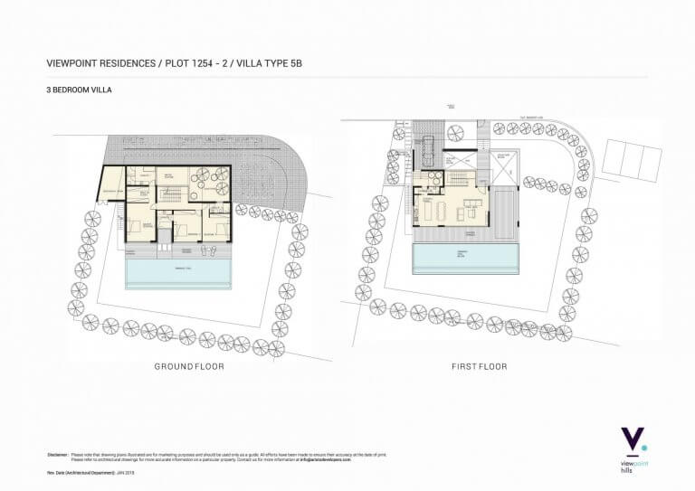 ViewPoint Hills Plot 1254 - 3 Bedroom Villas For Sale in Peyia