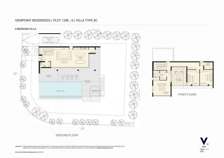 ViewPoint Hills Plot 1256 - 3 Bedroom Villas For Sale in Peyia