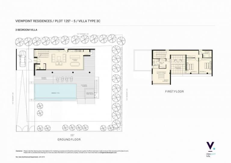ViewPoint Hills Plot 1257 - 3 Bedroom Villas For Sale in Peyia