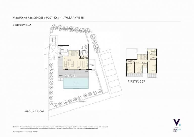 ViewPoint Hills Plot 1268 - 3 Bedroom Villas For Sale in Peyia
