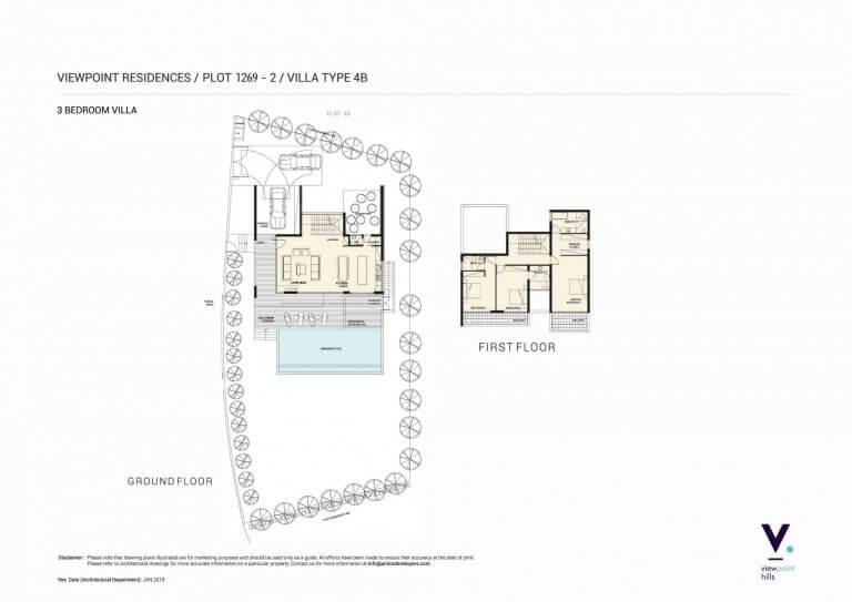 ViewPoint Hills Plot 1269 - 3 Bedroom Villas For Sale in Peyia