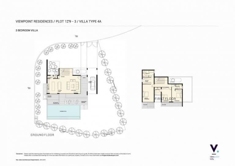ViewPoint Hills Plot 1270 - 3 Bedroom Villas For Sale in Peyia