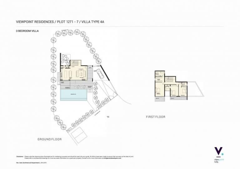 ViewPoint Hills Plot 1271 - 3 Bedroom Villas For Sale in Peyia