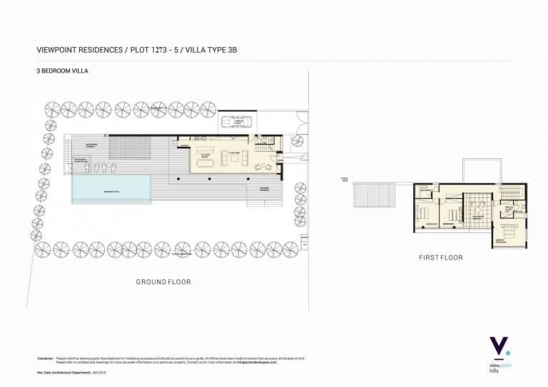 ViewPoint Hills Plot 1273 - 3 Bedroom Villas For Sale in Peyia