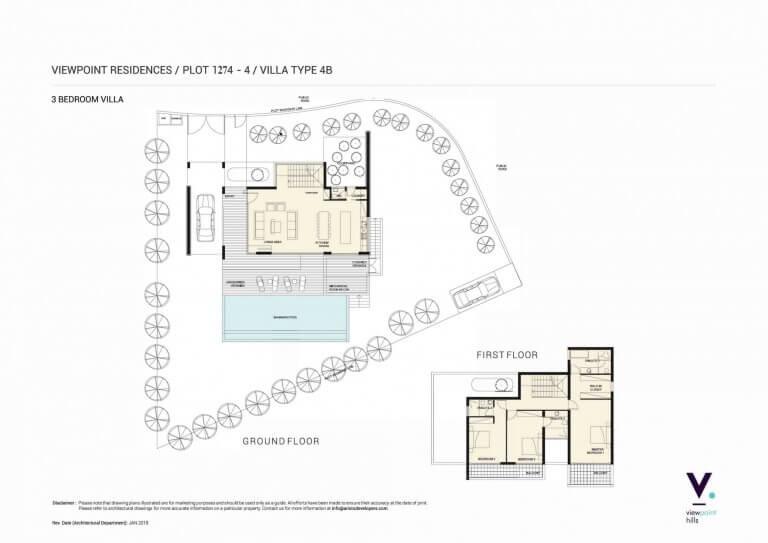 ViewPoint Hills Plot 1274 - 3 Bedroom Villas For Sale in Peyia