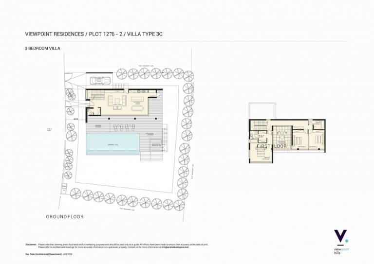 ViewPoint Hills Plot 1276 - 3 Bedroom Villas For Sale in Peyia