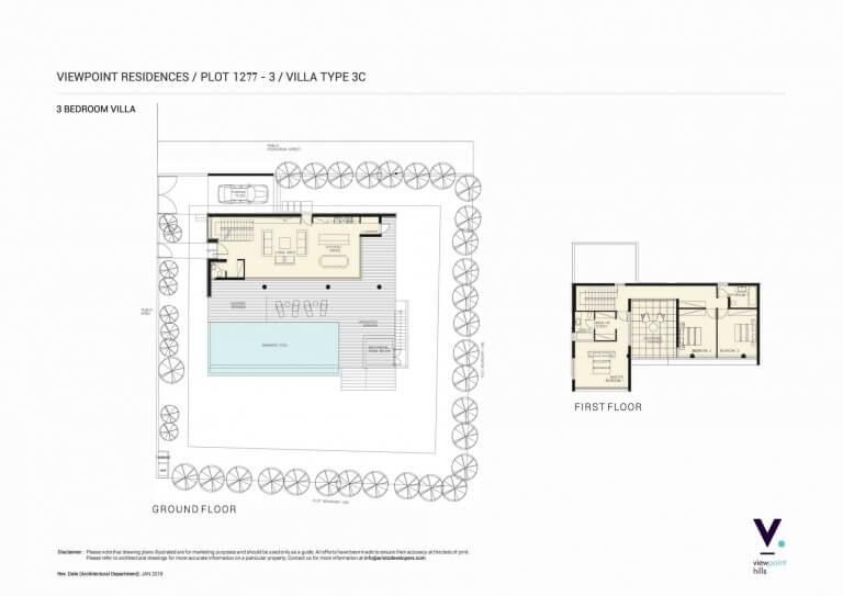 ViewPoint Hills Plot 1277 - 3 Bedroom Villas For Sale in Peyia
