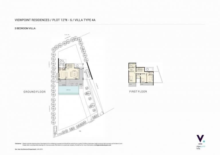 ViewPoint Hills Plot 1278 - 3 Bedroom Villas For Sale in Peyia
