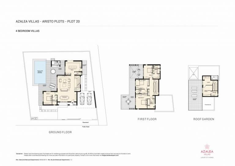 Azalea Residences Villa No.20 - Floor Plans