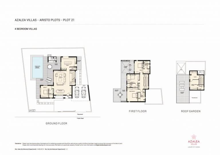 Azalea Residences Villa No.21 - Floor Plans