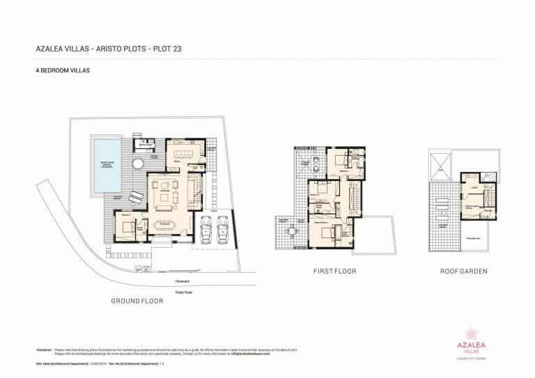 Azalea Residences Villa No.23 - Floor Plans