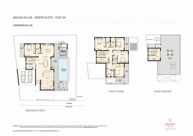 Azalea Residences Villa No.24- Floor Plans