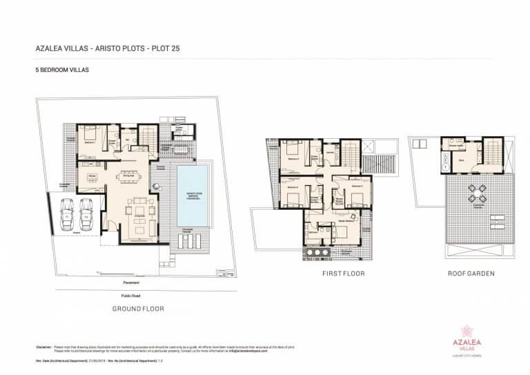 Azalea Residences Villa No.25- Floor Plans