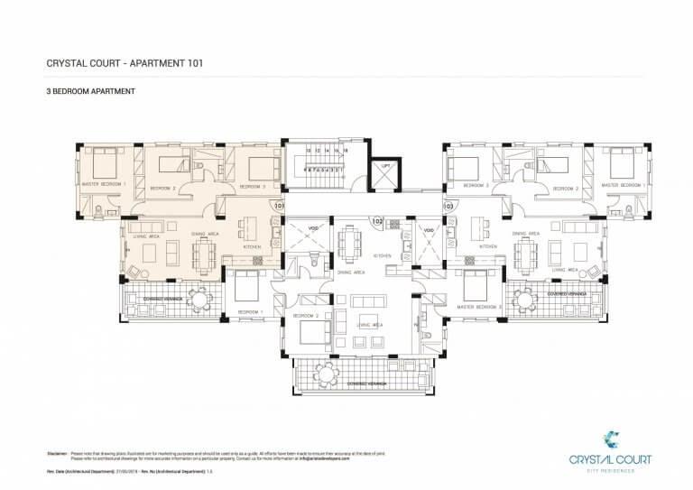 Crystal Court Apartment 101 Floor Plans
