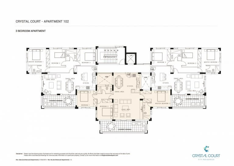 Crystal Court Apartment 102 Floor Plans