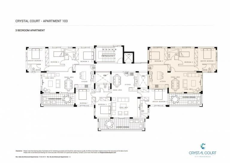 Crystal Court Apartment 103 Floor Plans