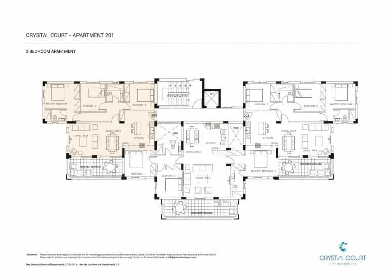 Crystal Court Apartment 201 Floor Plans