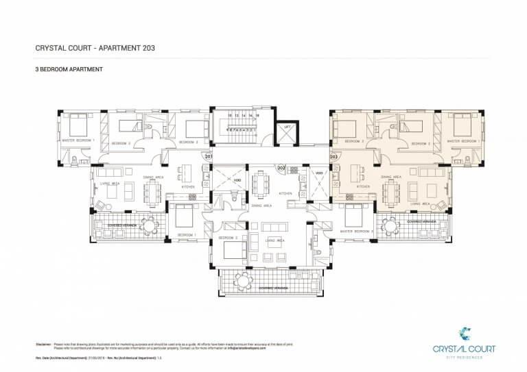 Crystal Court Apartment 203 Floor Plans