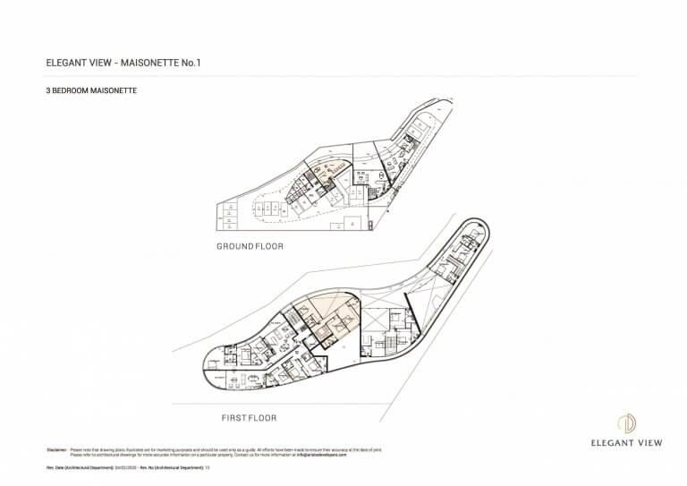 Elegant View Maisonette 1 (Floor Plans)