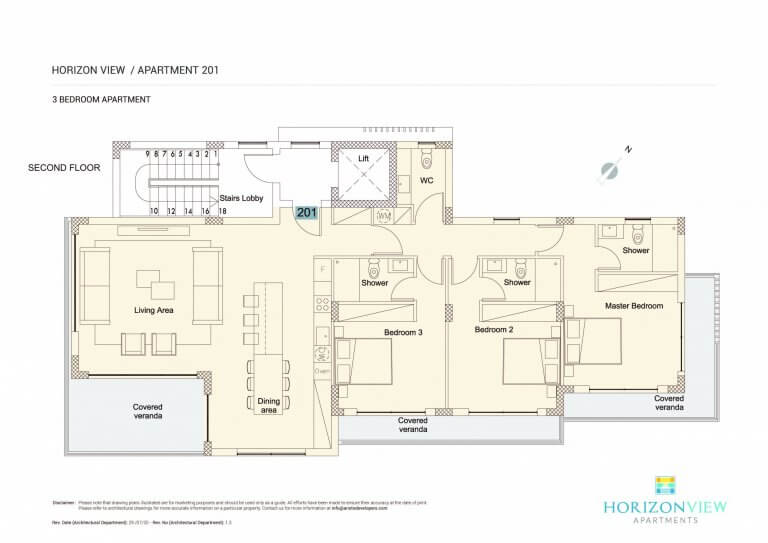 Horizon View Apartment 301 - 3 Bedroom For Sale in Paphos, Cyprus