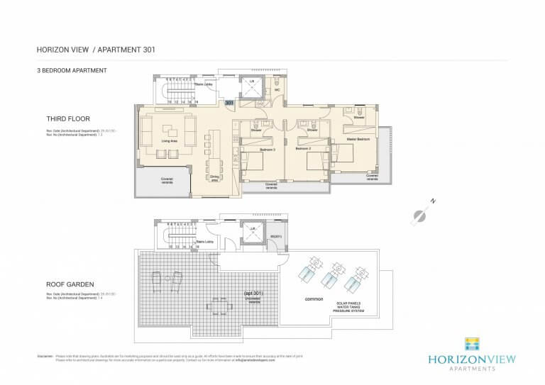 Horizon View Apartment 301 - 3 Bedroom For Sale in Pahos, Cyprus