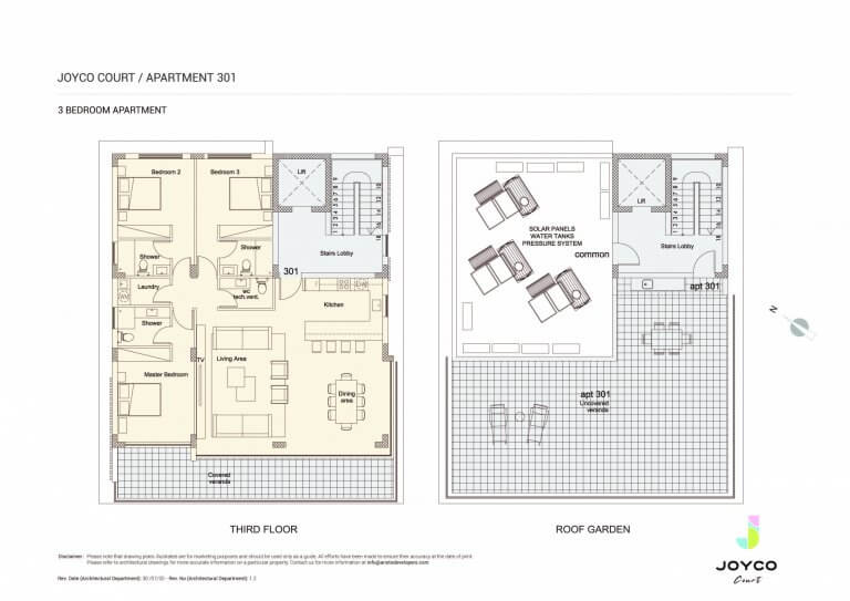 Joyco Court 3rd Floor - 3 Bedroom Apartment For Sale in Paphos