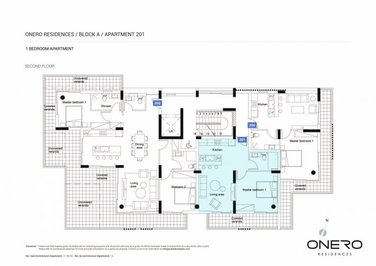 Onero Residences Apt 201 - 1 Bedroom Apartments For Sale in Paphos