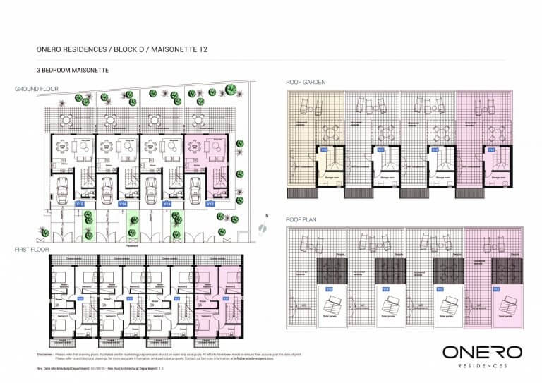 Onero Residences Mais 12 - 3 Bedroom Apartments For Sale in Paphos