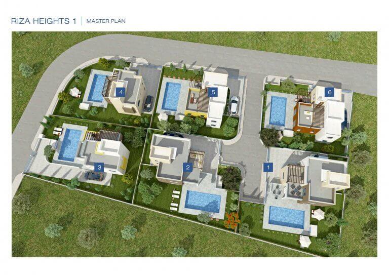 3 & 4 Bedroom Villa Riza Heights 1 Master Plan