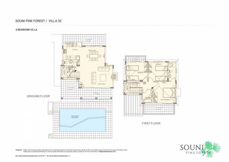 Souni Pine Forest Villa No 32 Floor Plans
