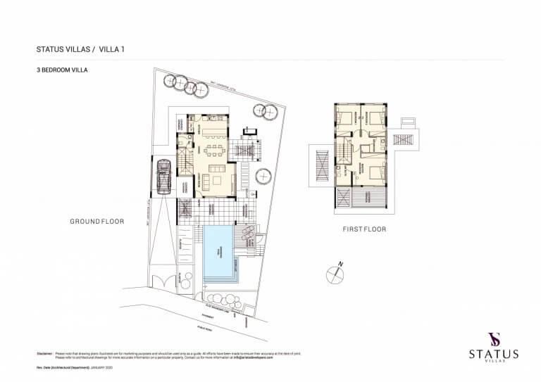 Status Villa N1 Floor Plans