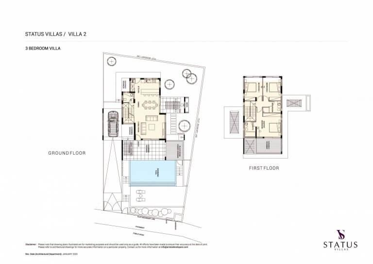 Status Villa N2 Floor Plans