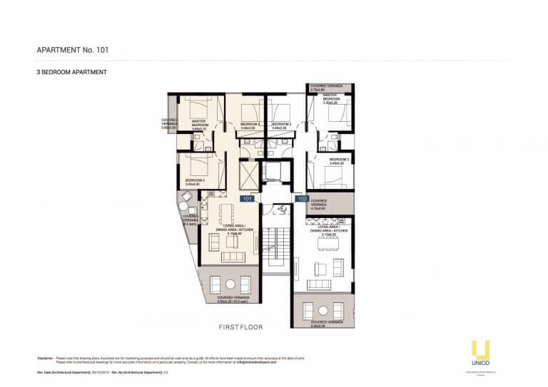 UNICO APT-101 Floor Plans