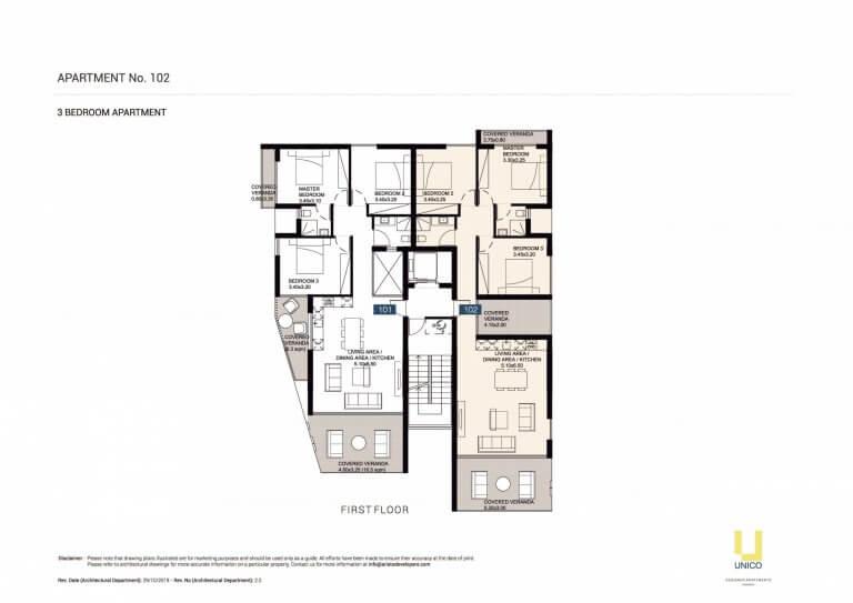 UNICO APT-102 Floor Plans