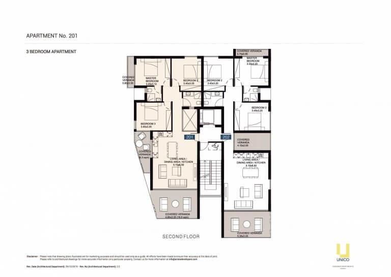 UNICO APT-201 Floor Plans
