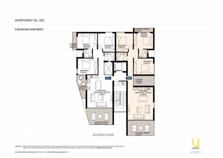 UNICO APT-202 Floor Plans