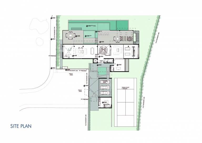 Villa Superior Site plan